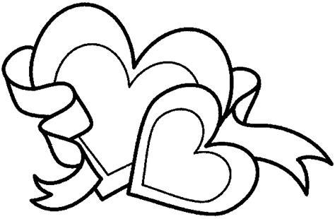 Zwei Herzen Band Ausmalbild & Malvorlage (liebe