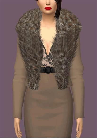 Sims Fur Collar Jacket Cc Accessory Custom