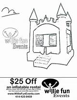 Bounce Coloring Events Fun Coupon Bouncy Inflatable Willie Parties Inspiration Rental Pages sketch template