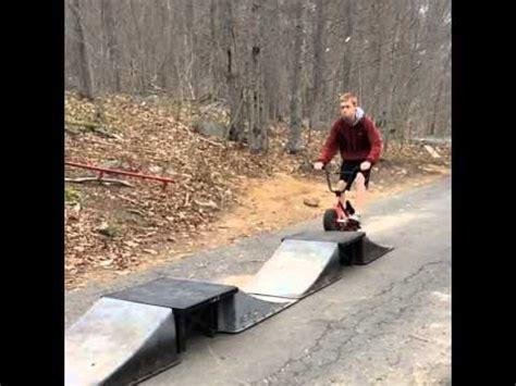 fat boy bmx bike huge jump youtube