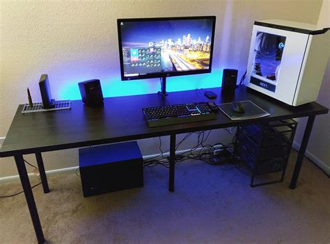 small gaming computer desk cool gaming computer desk setup with black ikea desk