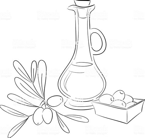 Coloring Oleo by Olive Bottle Stock Vector 498899627 Istock