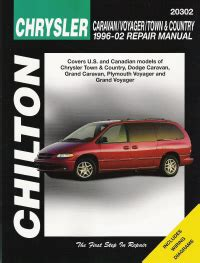 free online auto service manuals 1996 plymouth grand voyager electronic valve timing 1996 2002 chrysler town country caravan grand voyager grand chilton s manual