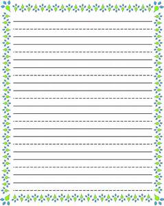 Blank Kindergarten Writing Paper Humorous Essay Definition Printable