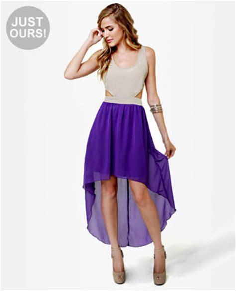 cute purple dress high  dress  lulus dresses