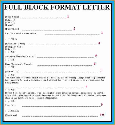 8 block letter format exle invoice template