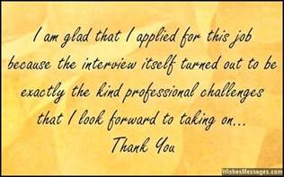 Thank You Note After Job Interview