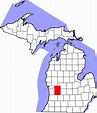 File:Map of Michigan highlighting Kent County.svg ...
