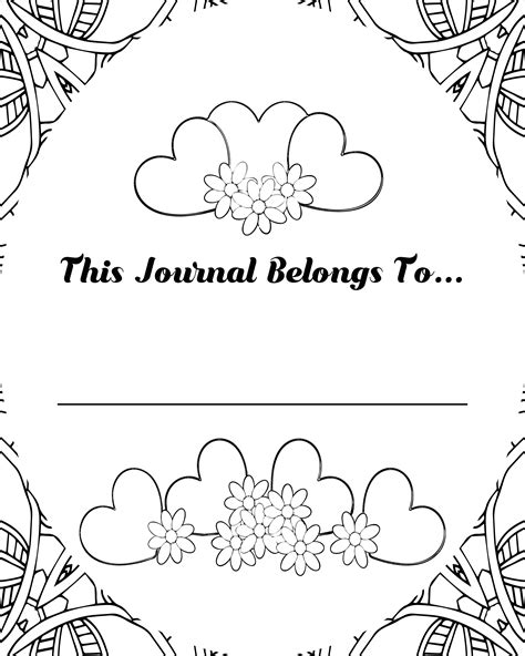 book journals coloring pages