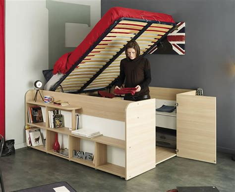 space  bed  storage  parisot design