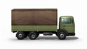 Cargo Trucks Side View