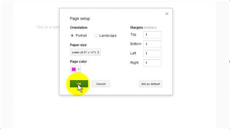 how to make your change color change backround color in docs