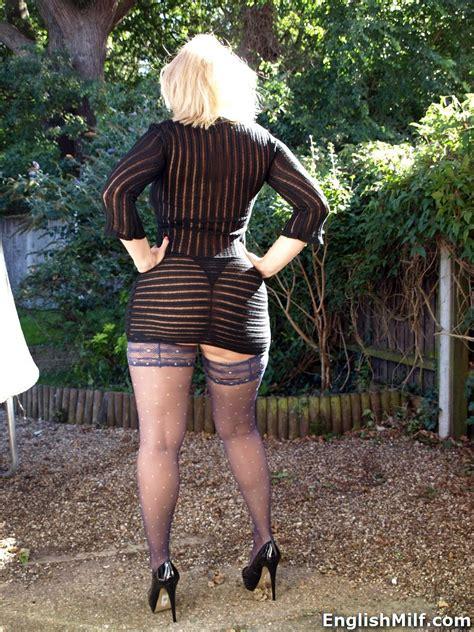 Big Ass British Milf Daniella In Sexy See Thru Dress