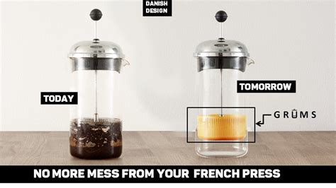At first glance, brewing coffee using a french press is super easy: GRUMS - The french press coffee grounds collector by ...