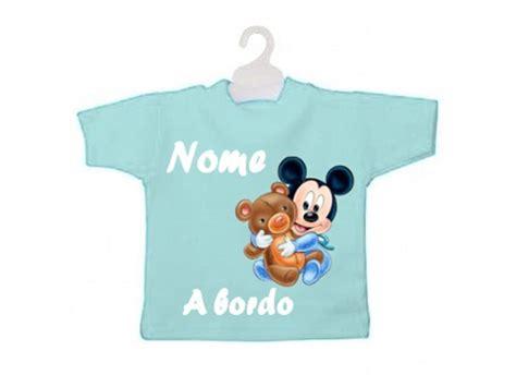 Mini T-shirt Bimbo A Bordo Topolino Con Peluche
