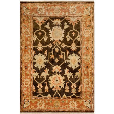 safavieh oushak rugs safavieh oushak brown rust 4 ft x 6 ft area rug osh115a