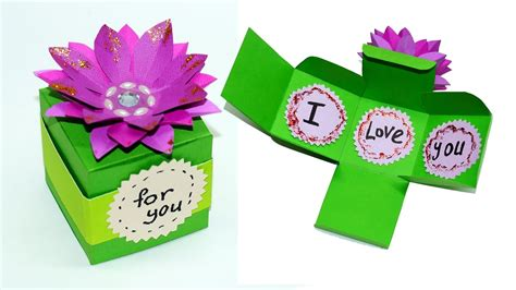 diy paper crafts idea    easy gift box making