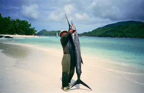 File:Mahe Beach - author with the sailfish by J ...