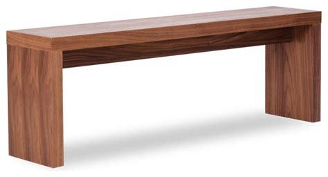 Caroline Walnut Seating Bench (small)  Modern Indoor