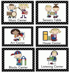 Center Signs for Early Childhood | PreschoolSpot ...