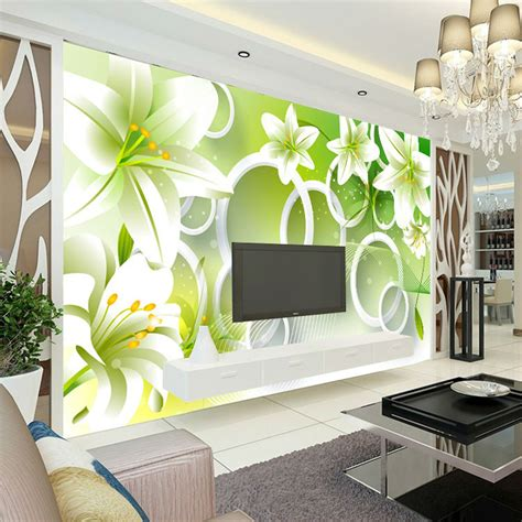 elegante lirio foto wallpaper  dormitorio papel pintado