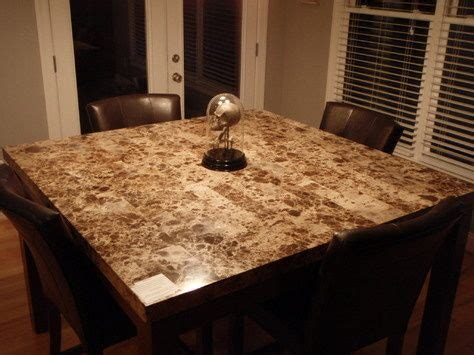 granite topped gathering height table counter height
