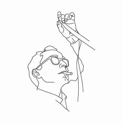 Minimal Drawing Line Luc Godard Jean Teepublic