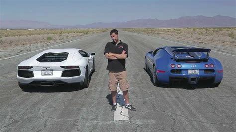 The lamborghini has 700 horse power. lamborghini aventador vs bugatti veyron drag race - YouTube