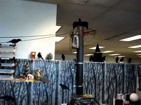 halloween cubicle decorations  youtube