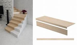 Avec Quoi Recouvrir Un Escalier En Carrelage : r nover un escalier des kits pour habiller de bois des marches d escalier 18h39 x castorama ~ Melissatoandfro.com Idées de Décoration
