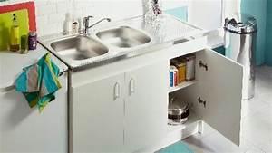 Poignée Meuble Cuisine Brico Depot : meuble cuisine bali brico depot youtube ~ Mglfilm.com Idées de Décoration