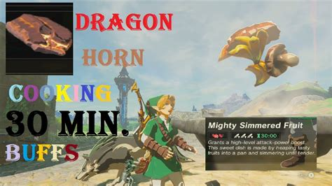 dragon horn cooking min food buffs botw doovi