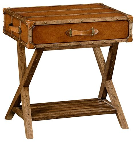 farmhouse style end tables jonathan charles travel trunk style side table 494464