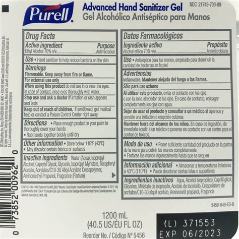 PURELL® Advanced Gel Hand Sanitizer Refill for TFX™ Touch