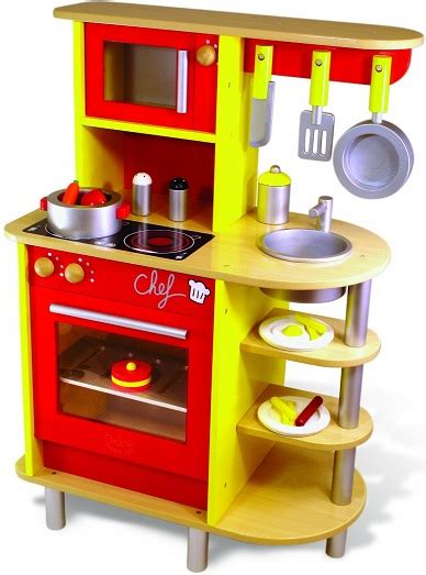 grande cuisine en bois vilac jouet cuisine du chef cuisine enfant 20 accessoires