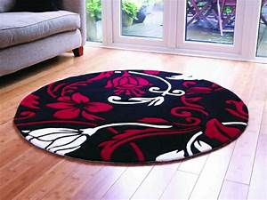 un tapis rond shaggy la touche de douceur et du confort With tapis rond salon