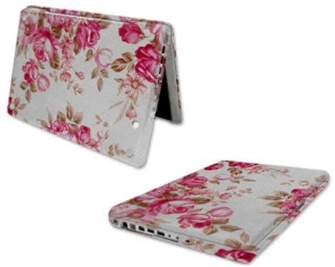 computer   apple laptop cover flower design cover