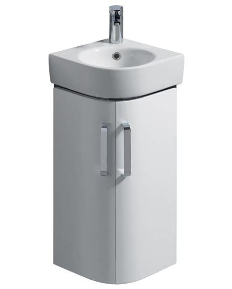 twyford e200 425mm white corner unit and 320mm handrinse basin
