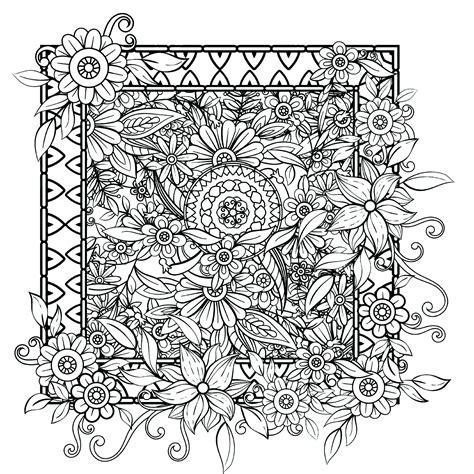 fiori  vegetazione  fiori  vegetazione disegni da colorare  adulti