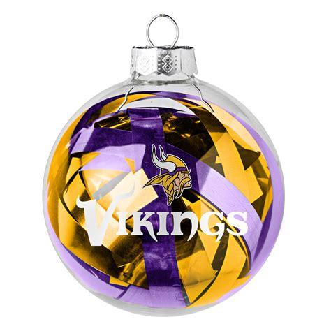 minnesota vikings large tinsel ball ornament