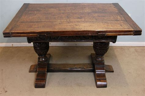 solid oak farmhouse dining table antique solid oak refectory draw leaf farmhouse dining
