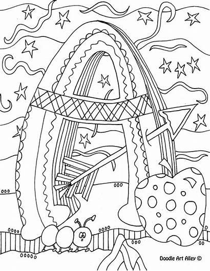 Coloring Pages Doodle Alphabet Letters Alley Letter