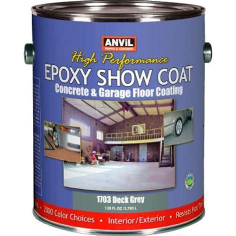 anvil 1 gal deck grey epoxy show coat interior exterior