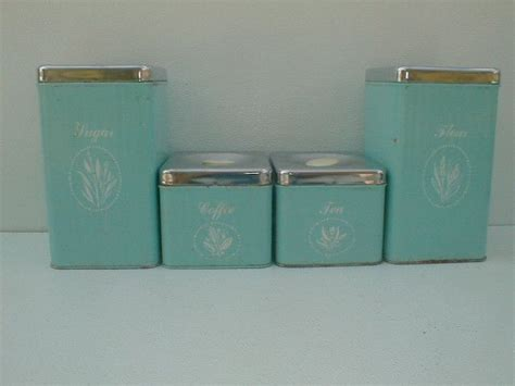 Vintage Metal Kitchen Canisters by Vintage Kitchen Canisters Antique Vintage 4