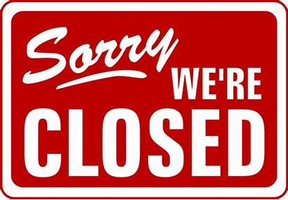Closed Sorry Clipart Were Vinyl Sticker Wall