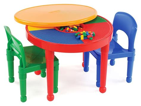 train table set for 2 year old amazon tot tutors kids 2 in 1 plastic compatible