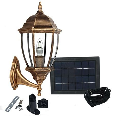 large elegant outdoor solar powered led garden wall light