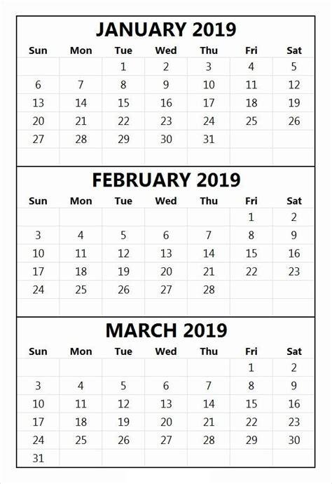 january  february  printable calendar