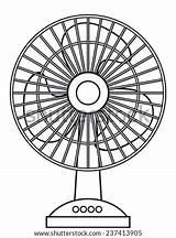 Fan Electric Table Template Vector Clip Sketch Coloring Heatwave Vectors Shutterstock Office sketch template