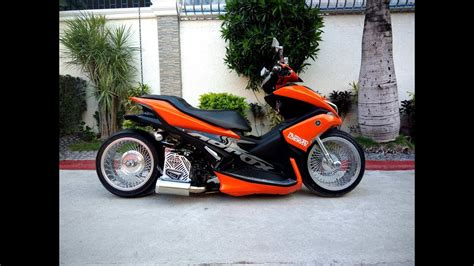 Aerox Modification by 1st Yamaha Aerox 155 With Air Suspension In The